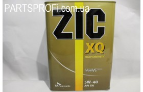 Масло моторное  (5W40)   ZIC XQ ,  4L